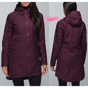 Lulu Right As Rain Jacket Bordeaux Drama Long Coat